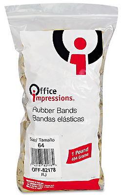 1lb Bag 64 Rubber Bands 3-12l X 14w 320 Count Rubberbands