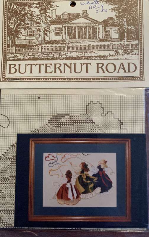 "1991 Butternut Road Cross Stitch Leaflet ""Catch The Wind"" Marilyn Leavitt-Imblum"