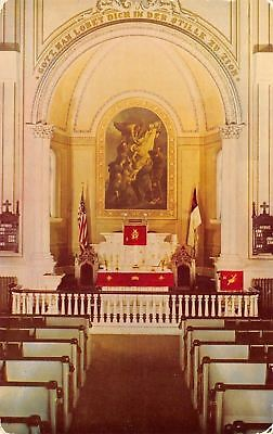 Neffs Pennsylvania Union Church Interior Pastors Urffer   Weida 1950S Postcard