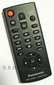 Panasonic N2QAEC000024 Replacement Remote Control for Many 2008-2012 Camcorders