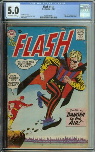 THE FLASH #1113 CGC 2.5 BARRY ALLEN 1ST APP THE TRICKSTER JAMES JESSE
