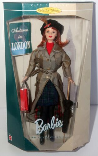 Barbie City Season Collection Autumn In London Doll 1999