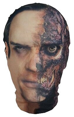 Two-Face Mask - Batman - Full Head Lycra Morph Style Mask - Halloween - Costume - Two Face Mask Batman