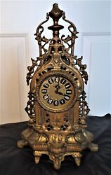 Ornate Vintage Blessing Mantle/Table Alarm Clock - Made in West Germany- Working