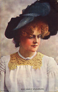 early-1900s-raphael-tuck-oilette-colour-card-miss-mary-studholme-great-hat