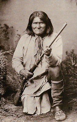 Geronimo, Apache Indian Leader Native American, Fought Mexico & Texas - Postcard