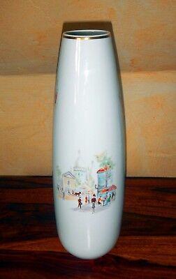 "HUTSCHENREUTHER Stangenvase ""Moulin Rouge"" 1939-1964 Hans Achtziger Diadem Vase"