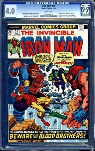 Iron Man #55 CGC 4.0