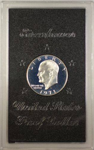 1971-S Proof 40% Silver Eisenhower IKE Dollar Coin with Original US Mint Box