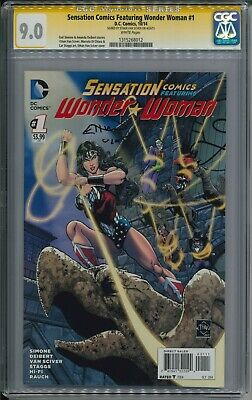 Sensation Comics Featuring Wonder Woman #1 CGC SS 9.0 signed by Ethan Van - Wonder Woman Vans