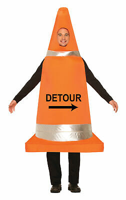Straße Verkehrskegel Lustig Erwachsene Kostüm Stag Nacht Herren Damen Outfit