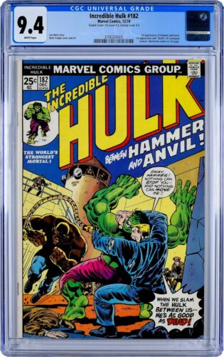 Incredible Hulk #182 CGC 9.4 DOUBLE COVER Wolverine