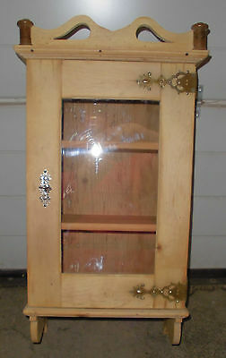 jugendstil vitrine hängeschrank antik wandschrank obstholz schränkchen 1 türig