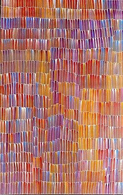 Jeannie Mills Pwerle, Authentic Aboriginal Art.  Size 150cm x 100cm, 'Bush Yam'
