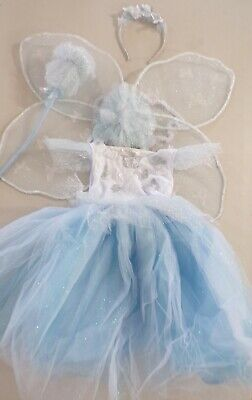 Pottery Barn Light Up Blue Butterfly Magical Fairy Costume 4 -6 Years READ #7147