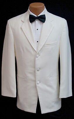 Handsome Ivory Off White Tuxedo Dinner Jacket Cream Tux Coat Cruise Formal Prom - Tux Coat