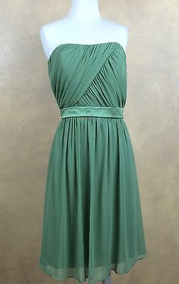 Dress After Six Apple Spice Green Strapless Prom Bridesmaid Cruise Sz 8 -