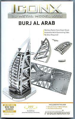 Metal Earth Iconx BURJ AL ARAB HOTEL DUBAI 3D Puzzle Mini Model  Burj Al Arab Puzzle