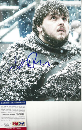 Game of Thrones John Bradley (Samwell Tarley) Autographed 8x10 photo PSA DNA