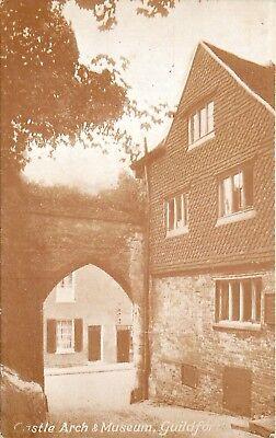 s09566 Castle Arch & Museum, Guildford, Surrey, England postcard unposted