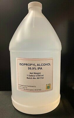 99% Isopropyl alcohol 1Gallon Free Shipping+Certificate of Origin