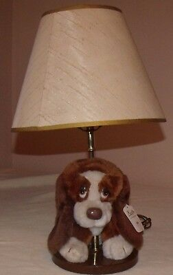 vintage baxter the bashful basset table lamp