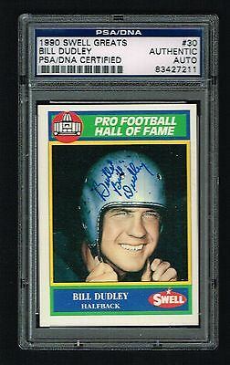 18c8062e8 Bill Dudley 1990 Swell Football Greats signed autograph auto PSA DNA Slabbed
