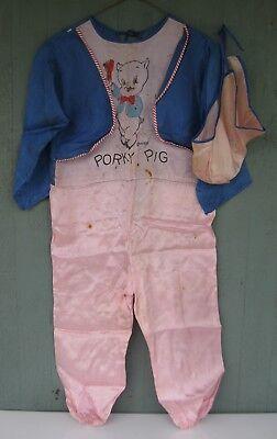 Vintage 1960s Halloween Porky Pig Costume No Mask - Porky Pig Halloween Costume