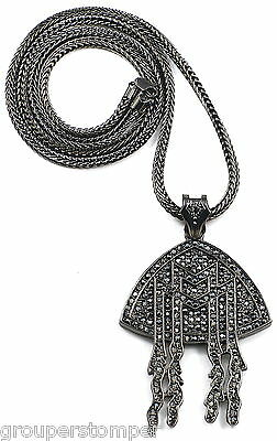 MMG Necklace Crystal Rhinestones New Dripping Pendant 36 Inch Chain
