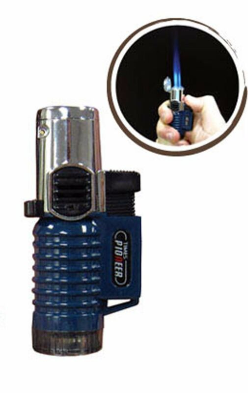 TRIPLE Flame Torch Lighter Cigar Lighter Lock 4 Continuous Flame Wind Resistant