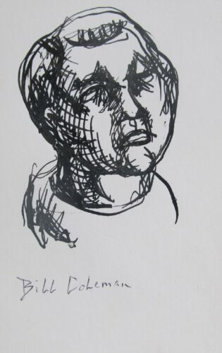 BILL+COLEMAN+AUSTRALIAN+SIGNED+INK+%22YOUNG+BOY+PORTRAIT%22+C+1970
