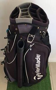 USED TAYLORMADE GOLF 14-WAY TOP DELUXE CART BAG COOLER HOODCOVER Loganholme Logan Area Preview