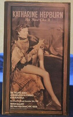 KATHARINE HEPBURN Sexy Movie Poster As you Like it Theater Guild NYC