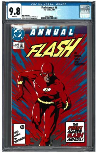 FLASH ANNUAL #1 CGC 9.8 (1987) DC Comics white pages