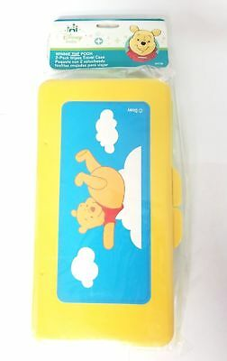 Disney Pack of 2 Winnie the Pooh Travel Baby Wipe Cases Refillable Neutral Color ()
