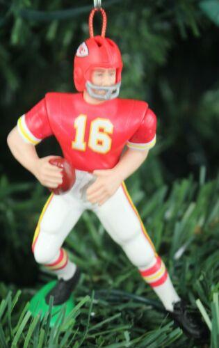 "Len Dawson Kansas City Chiefs #16 Football Christmas Ornament White Jersey 4"""