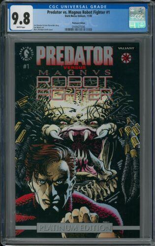 PREDATOR VS. MAGNUS ROBOT FIGHTER #1 CGC 9.8 (11/92) Dark Horse/Valiant Platinum