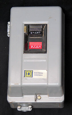 Square D 2-3 H.p. Motor Starter With Enclosure