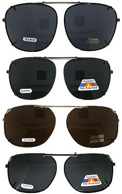 Clip On Sunglasses For Large Frame Glasses Rectangle Lenses Polarized USA (Large Frame Male)