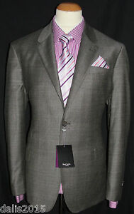 BNWT MEN'S PAUL SMITH  'The Byard' Windowpane Check SUIT UK44R W34 L37,2 UNHEMED