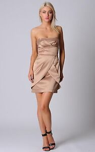 Pilgrim- Classic Cocktail Dress- Camel Size 6- BRAND NEW WITH TAGS- RRP$229.95