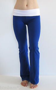 Petite-Sizing-Yoga-Fitness-Gym-Athletic-Pants-With-Fold-Down-Waist-S-M-L