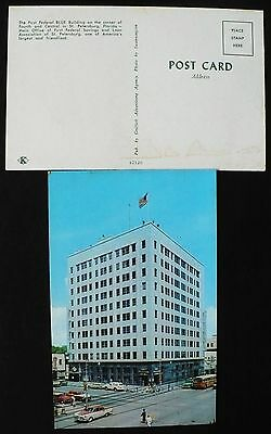 1950S First Federal Bank Blue Building  4Th   Central Avenue  St  Petersburg Fl
