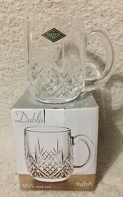 Dublin Cut Crystal Beer Mug 18 Ounce Shannon Godinger New In Box