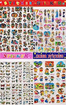 Bulk 13 Sheets Mickey Mouse Tweety Bird Letters Flowers Barbie Anime Stickers ()