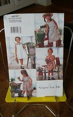 Summer Crafts For Toddlers (Oop Vogue for Me 9637 toddlers summer dress pullover adorable sz 1-4)