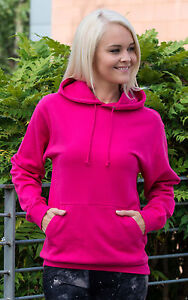 HOT-PINK-HOODIE-HOODED-TOP-PLAIN-NO-LOGO-BN-ALL-SIZES
