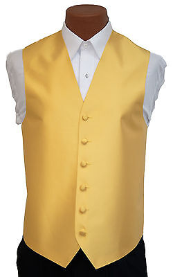 Medium Mens After Six Aries Safron Yellow Fullback Prom Formal Wedding Prom Vest After Six Aries Vest