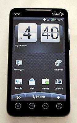 Sprint Pcs - HTC EVO 4G Sprint PCS BLACK Google Android Smart Cell Phone Bluetooth PC36100 -B
