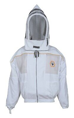 Beekeeping Jacket Ultra Ventilated Beekeeper Bee Hat Fencing Veil Wbag - Large